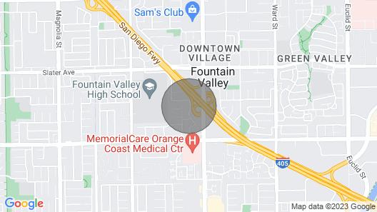 Modern Studio in FV, 3m to Beaches, Scoastplaza, Disneyland, Angel Stadium, LA Map
