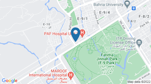 Millennium Hotel Islamabad Map