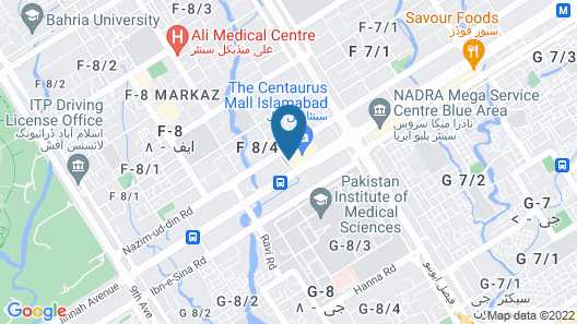 The Centaurus Serviced Apartments Map
