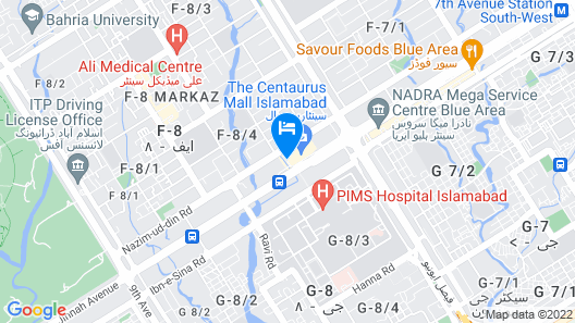 The Centaurus Serviced Apartments Map