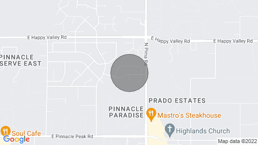 North Scottsdale 1 Bedroom Stand Alone Guest House With Garage. Map