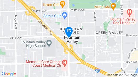 Ayres Hotel Fountain Valley/Huntington Beach Map