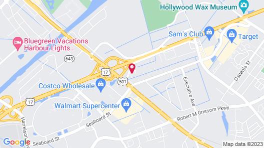 Comfort Suites Myrtle Beach Central Map