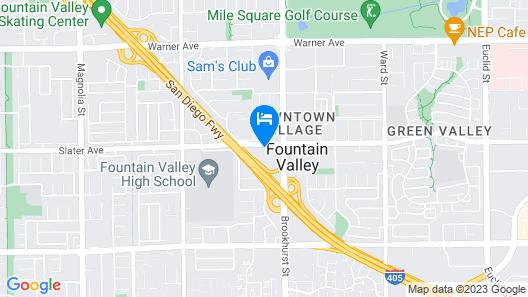 Sonesta ES Suites Huntington Beach Map