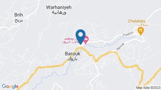 Barouk View Hotel Map