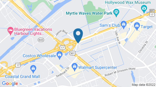 Suburban Extended Stay Of Myrtle Beach Map