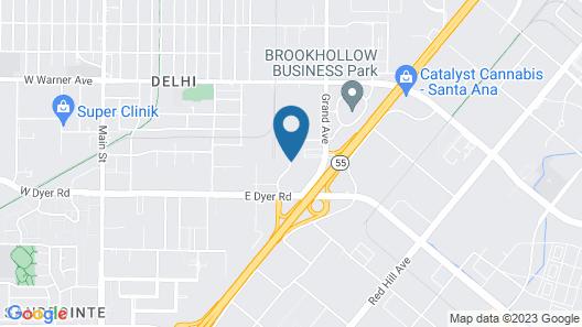 Hampton Inn and Suites Santa Ana/Orange County Airport Map
