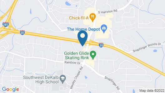 OYO Hotel Decatur I-20 East & Wesley Club Dr Map