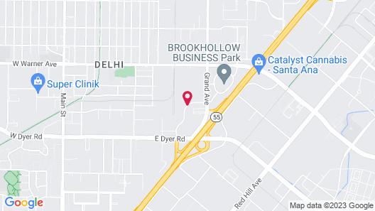Comfort Inn & Suites Orange County John Wayne Airport Map