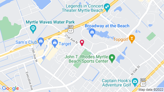 Courtyard by Marriott Myrtle Beach Broadway Map