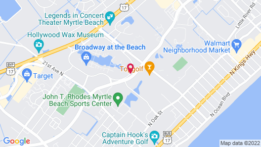 Hampton Inn Myrtle Beach Broadway at the Beach Map