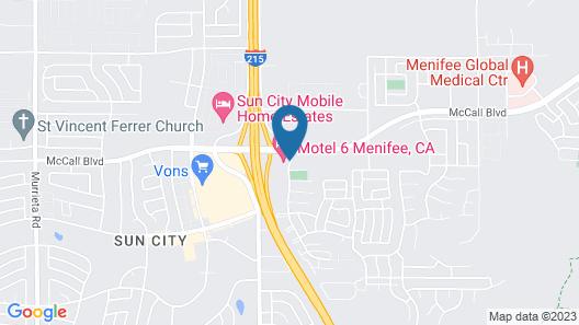 Motel 6 Menifee, CA Map