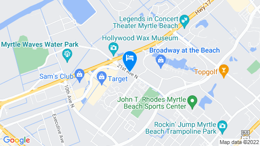 La Quinta Inn & Suites by Wyndham Myrtle Beach Broadway Area Map