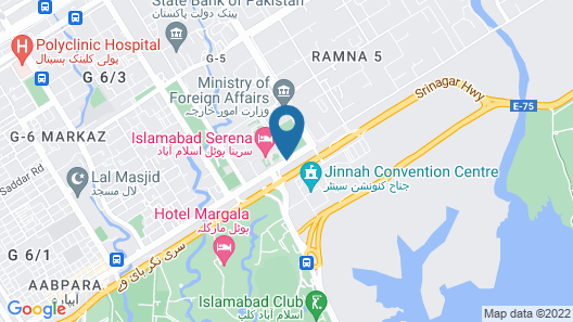 Islamabad Serena Hotel Map