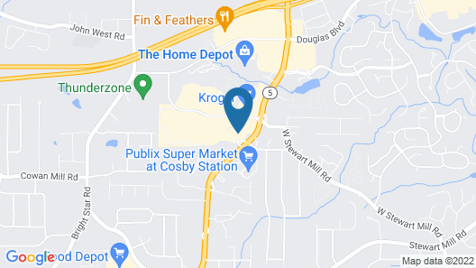 InTown Suites Extended Stay Atlanta GA - Douglasville Map