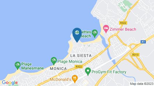 Appartement Marina Beach Map