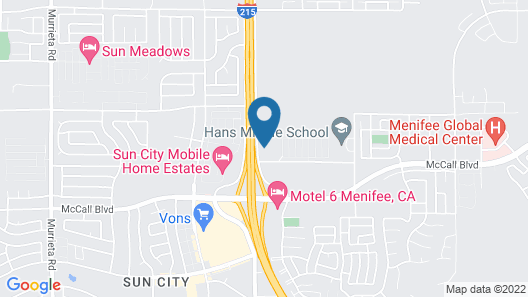 Menifee Inn Map