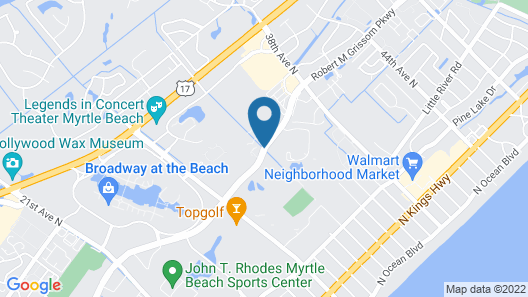 Sheraton Broadway Plantation Resort Villas Map