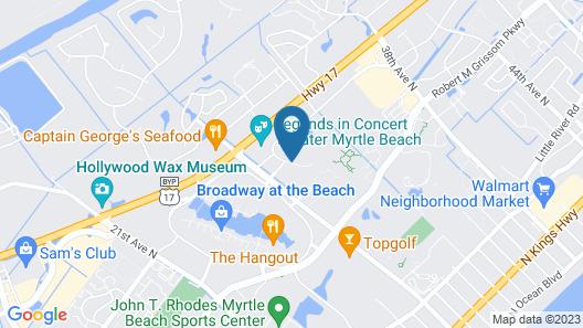 Holiday Inn Express Myrtle Beach-Broadway at the Beach Map
