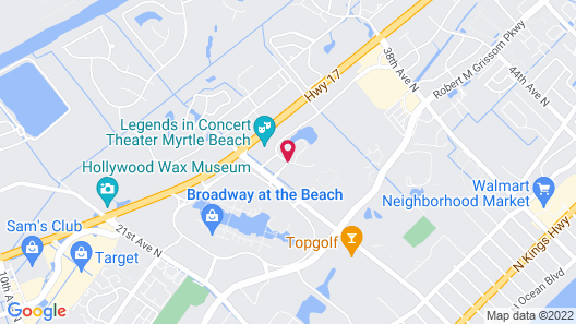 Fairfield Inn by Marriott Myrtle Beach Broadway at the Beach Map