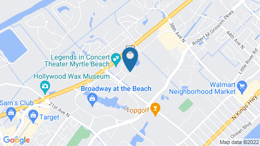 Holiday Inn Express Myrtle Beach-Broadway at the Beach, an IHG Hotel Map