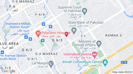 Grand Ambassador Hotel Islamabad Map