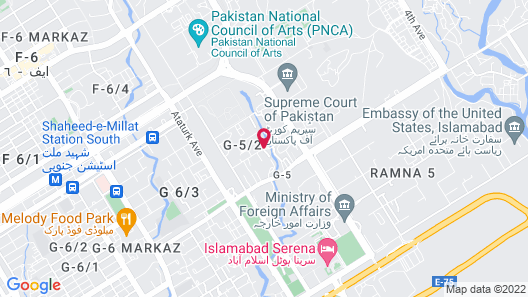 Grand Ambassador Islamabad Map
