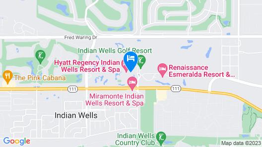 Hyatt Regency Indian Wells Resort & Spa Map