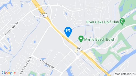 Days Inn by Wyndham Myrtle Beach Map