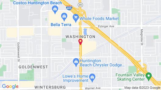 Comfort Inn & Suites Huntington Beach Map