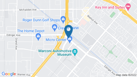 Fairfield Inn & Suites Tustin Orange County Map