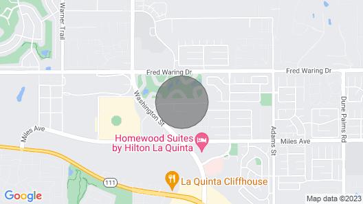 Palm Grove by AvantStay   15mins From Coachella - Desert Villa - Sleeps 14 Map