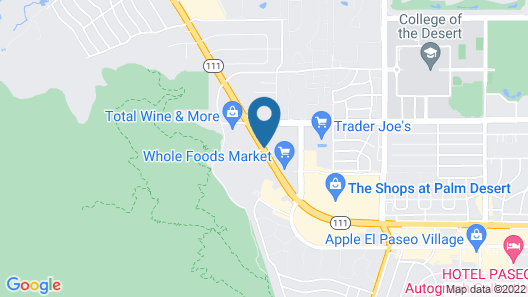 SpringHill Suites by Marriott Palm Desert Map