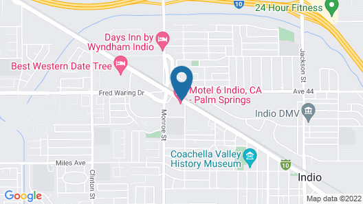 Motel 6 Indio, CA - Palm Springs Map