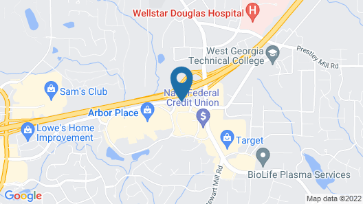 Hampton Inn Atlanta/Douglasville Map