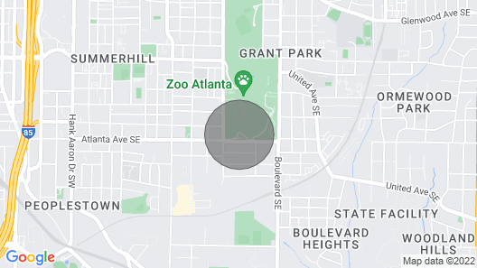 Clean and Spacious Home by ATL Zoo Sleeps 4 Map