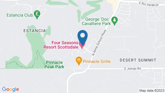 Four Seasons Resort Scottsdale at Troon North Map