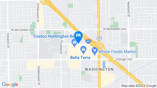 Hotel Huntington Beach Map