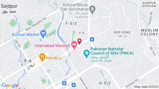 Islamabad Marriott Hotel Map