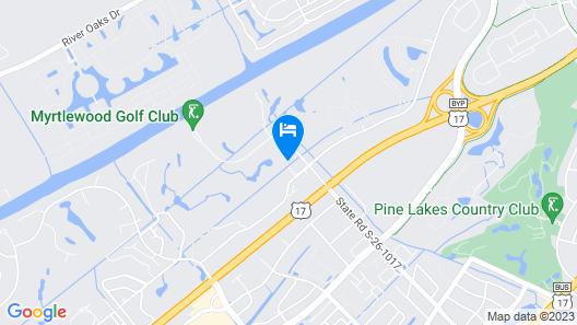 One Bedroom Golf Front Condo in Myrtlewood-sleeps 5! Map