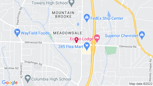 OYO Hotel Decatur I-285 The Perimeter Map