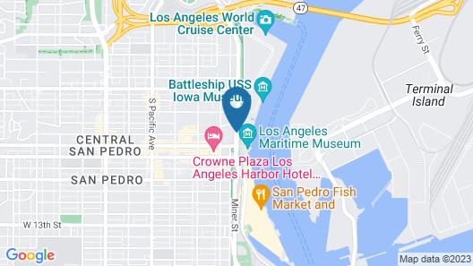 Sunrise Hotel San Pedro Map