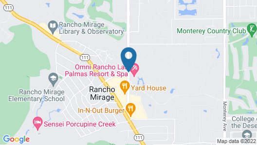 Omni Rancho Las Palmas Resort & Spa Map