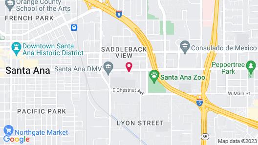 Holiday Inn Express And Suites Santa Ana - Orange County, an IHG Hotel Map