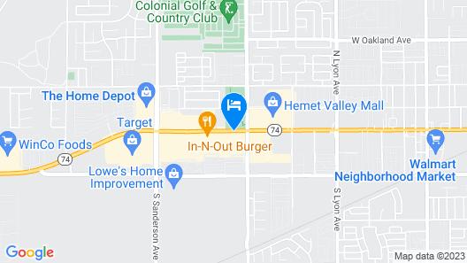 Travelodge by Wyndham Hemet CA Map