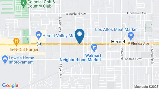Quality Inn Hemet - San Jacinto Map