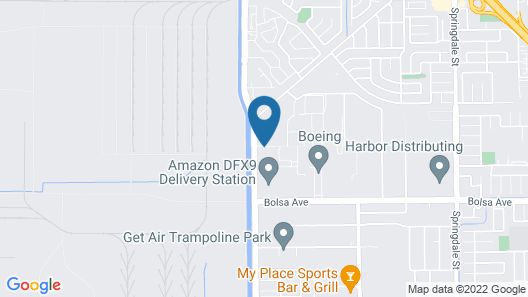 Extended Stay America Suites Orange County Huntington Beach Map