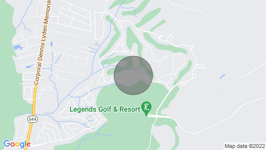 Gorgeous 2 Bedroom Golf & Beach Retreat in Legends Golf Course Map