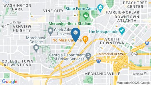 Clarion Inn & Suites Atlanta Downtown Map