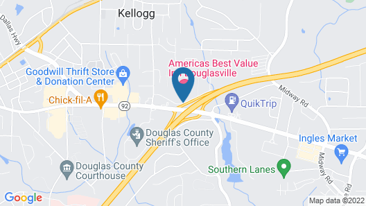 Quality Inn near Six Flags Map